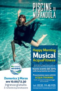 Happy Morning Musical Acqua Fitness a Mirandola - 3 marzo 2019